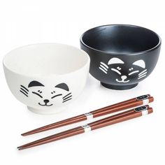 Japanese Cat Bowl Set
