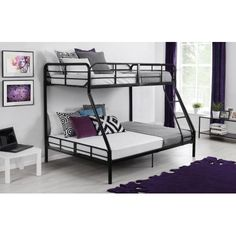 Dorel TwinOverFull Metal Bunk Bed Multiple Colors CUSTOM BUILD
