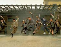 David Tennant In Places He Shouldn't Be -- in a scene from the Newsies