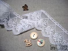 14Yds Embroidered Broderie Anglaise cotton lace trim 6cm YH1386 laceking2013