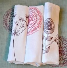 kitchen towels from maramiki on etsy