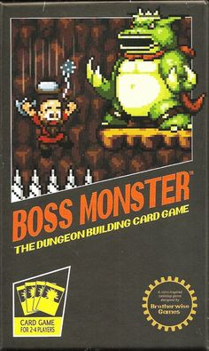 Inspired by a love of classic video games, Boss Monster: The Dungeon Building Card Game pits 2-4 players in a competition to build the ultimate side-scrolling dungeon. Players compete to lure and destroy hapless adventurers, racing to outbid one another to see who can build the most enticing, treasure-filled dungeon. The goal of Boss Monster is to be the first Boss to amass ten Souls, which are gained when a Hero is lured and defeated — but a player can lose if his Boss takes five W...