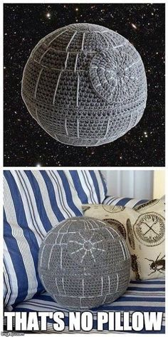 Free Pattern ~ Deathstar Pillow! Done! July 2015 - Karl's birthday present <3