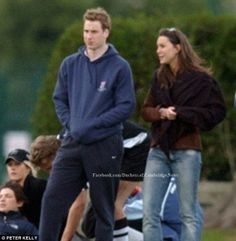 May 3, 2003 - William and Kate watching a rugby match at St. Andrews University.