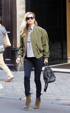 Kate Moss in Rag & Bone Skinny in Coal