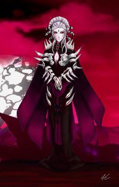 This is a drawing of Salem in her armor. Salem Rwby, Rwby Grimm, Rwby Characters, Fictional Characters, Character Art, Character Design, Blake Belladonna, Team Rwby, Rwby Fanart