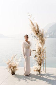Lakeside Wedding, Boho Wedding, Floral Wedding, Dream Wedding, Lake Como Wedding, Photos Booth, Wedding Ceremony Backdrop, Deco Boheme, Eucalyptus Wedding