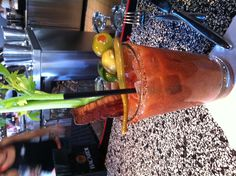 This is how they serve Big Daddy's Bloody Mary's  @FirestonePublic House in #Sacramento #California