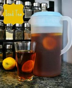 simple, home made iced tea