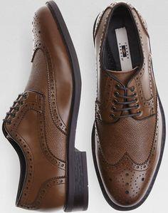 Joseph Abboud Bradley Brown Wingtip Oxford Shoes