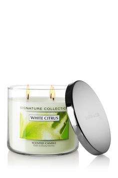 Bath & Body Works®, Signature Collection, 14.5 oz. 3-Wick Candle, White Citrus  UPDATE: B has discontinued White Citrus in home fragrance