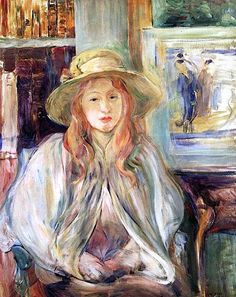 "bofransson: "" Julie Manet with a straw hat, 1892 - Berthe Morisot """