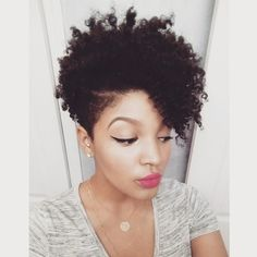 tapered natural haircuts for black women - Google Search