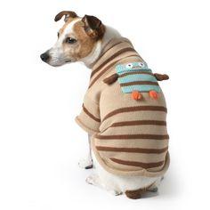 Cute, Organic Cotton Owl Dog Sweater at Muttropolis