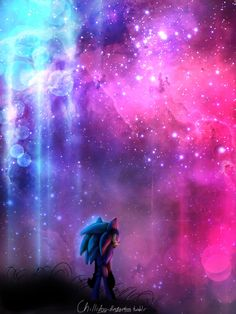 the colourful sky art by Chillisart