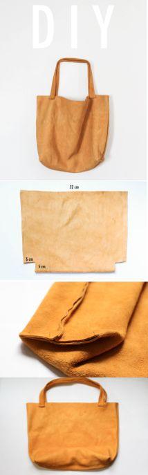 DIY Leather Tote Tutorial | PASSO A PASSO PARA A CONFEÇÃO DE UMA TOTE BAG EM COURO NATURAL.  DICA DRICATURCA DELUXE BRANDS