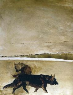 Andrew Wyeth - best PA artist to describe my upbringing (that comment from F/friend Gen, but Andrew and N. Wyeth were favotites my of my dad and I. Love the museum! Jamie Wyeth, Andrew Wyeth Paintings, Andrew Wyeth Art, Nc Wyeth, Beaux Arts Paris, Photo Animaliere, Art Plastique, Dog Art, American Artists