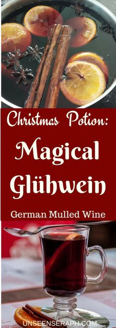 A delicious Glühwein (German mulled wine) recipe that doubles as a drinkable magick potion for Christmas. Enjoy by yourself or serve to your friends and loved ones for love, money, good luck, attraction & all the good stuff! Unseen Seraph   Magick   Witchcraft   Block Removal   Transformation