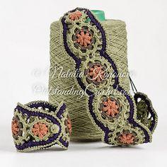 Thread Crochet, Crochet Motif, Diy Crochet, Crochet Hats, Crochet Jewelry Patterns, Crochet Accessories, Bracelet Crochet, Step By Step Crochet, Headband Pattern