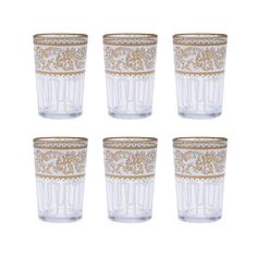 White Moroccan Tea Glasses - Set of 6