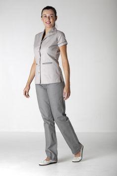 Black 100 cotton dress maid 39 s housekeeper uniforms for Spa housekeeping uniform