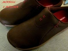 Womans Brwn Merrell Clog Leather New #Merrell #Clogs #Casual