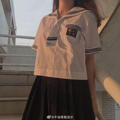 School Uniform Outfits, School Dresses, Kpop Fashion Outfits, Womens Fashion, Female Fashion, Pretty Outfits, Cute Outfits, Korean Student, Japanese Aesthetic