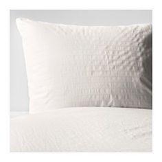 OFELIA VASS Duvet cover and pillowcase(s), white - white - Full/Queen (Double/Queen) - IKEA