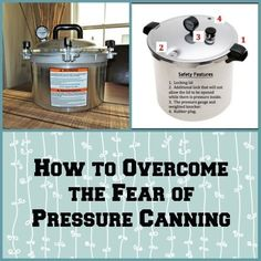 How to Overcome the Fear of Pressure Canning Have you resisted the call to begin pressure canning? If so, this article is for you. Learn how to overcome the fear of pressure canning by understanding the safety features that are built into modern canners. Pressure Canning Recipes, Canning Tips, Home Canning, Pressure Cooker Recipes, Pressure Cooking, Pressure Cooker For Canning, Canning Food Preservation, Preserving Food, Conservation