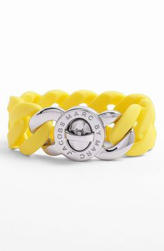 Perfect for stacking, or wearing alone! Marc by Marc Jacobs 'Turnlock - Katie' Stretch Bracelet #shopstylesummerfling