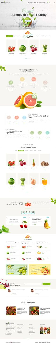 Naturix organic store is designed for Organic Store, Food market, Online food, natural items. It comes with 4 home pages and many inner pages. Naturix WordPress version is built with Bootstrap v3 and its fully tested with WordPress 4.8 and Woocommerce 3.x