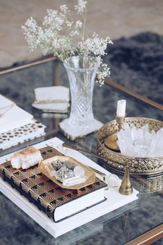 How I Styled My Coffee Table - Sarah Grace at Home Coffee Table Candles, Black Coffee Tables, Glass Top Coffee Table, Tea Candles, Pillar Candles, Coffee Table Styling, Decorating Coffee Tables, Upcycled Home Decor, Boconcept