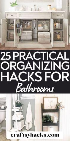 25 Bathroom Organizing Hacks Worth to Try