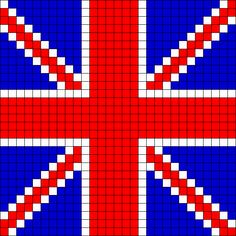UK Flag Perler Bead Pattern / Bead Sprite