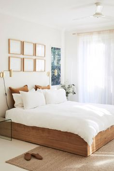 Byron fashion designer's luxe minimalist home – The Interiors Addict – Bedroom Inspirations White Home Decor, Cheap Home Decor, Decorations For Home, Wood Home Decor, Home Decoration, Home Decor Bedroom, Modern Bedroom, Artistic Bedroom, Decor Room