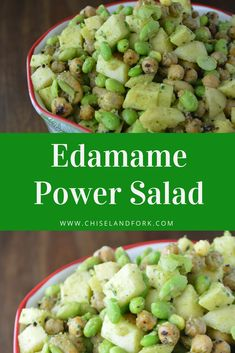 Edamame, Chickpea and Apple Power Salad - my list of healthy foods Summer Salad Recipes, Easy Salad Recipes, Easy Salads, Healthy Chicken Recipes, Side Dish Recipes, Healthy Salads, Vegan Recipes, Healthy Food List, Healthy Foods