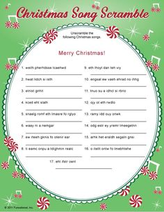 Printable Christmas Games for Holiday Party Fun! Christmas party games are fun for kids and adults. Games include Christmas trivia, bingo, charades and gift exchanges. These printable holiday games are fun and easy to print right from your computer. Xmas Games, Printable Christmas Games, Christmas Trivia, Holiday Games, Christmas Words, Christmas Party Games, Noel Christmas, Christmas Activities, Family Christmas