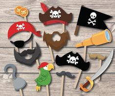 Super Birthday Decorations For Boys Kids Photo Booths Ideas Party Booth, Party Props, Pirate Photo Booth, Photo Booth Props, Photo Booths, Deco Pirate, Pirate Theme, Pirate Birthday, Boy Birthday Parties