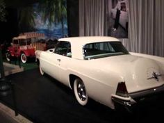 Elvis's car collection. Graceland. Filmed by a fan as they were going around the 'garage'