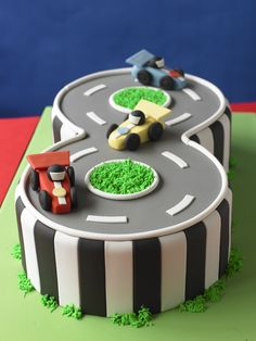Car cake. I left you how to do the numbers in my blog Fun Cakes