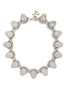 Opal Cherub Strand Necklace   BaubleBar