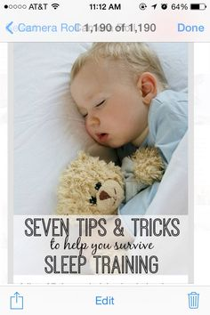 ✨✨✨7 Tips & Tricks To Help You Survive Sleep Training✨✨✨👶💭💭