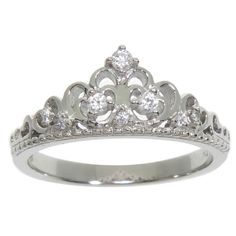 Shop for Eternally Haute Sterling Silver Pave Cubic Zirconia Princess Kate Crown Ring. Get free delivery On EVERYTHING* Overstock - Your Online Jewelry Shop! King And Queen Crowns, Ring Stores, Cubic Zirconia Rings, Princess Kate, Rings Cool, Rings Online, Sterling Silver Jewelry, Jewelry Watches, Engagement Rings