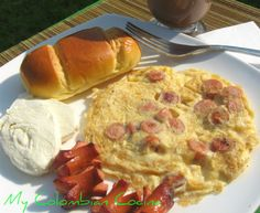 Huevos Revuelos con Salchichas or Omelet with Sausages
