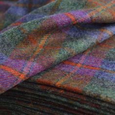 A rather magnificent flat tweed woollen check jacket cloth in a positive but subdued moorland check, in all the subtle colours you would expect to find when doing your grouse thing or just walking the hills and dales, fells and mountains. Kilt Accessories, Scottish Kilts, Grouse, Tartan Pattern, Plaid Fabric, Fabric Shop, Plaid Scarf, Larger, Weaving