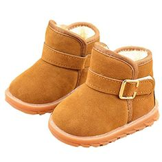 Voberry Baby Toddler Kids Children Girls Boys Winter Warm Boot Fur Lined Outdoor Snow Boots 12Age Khaki ** Find out more about the great product at the image link.Note:It is affiliate link to Amazon.