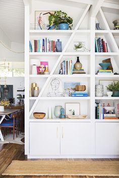 Cool Shelves that Steve could build! @plrone  Photographer Brittany Ambridge for Domino Magazine on decor8
