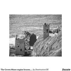 The Crown Mines engine houses, Botallack, Cornwall Gallery Wrap Canvas
