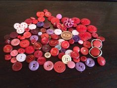 Collection of vintage red buttons