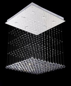 Free shipping new item Modern square design lustres de cristal lighting L70*W70*80cm led crystal chandelier